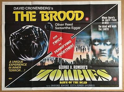 Dawn Of The Dead - The Brood, Original British Quad Cinema Movie Poster -Zombies