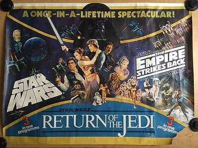 Star Wars - Original Cinema Quad Poster, Empire Strikes Back,Return Of The Jedi