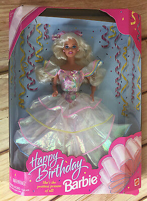 Mattel 1995 Happy Birthday Barbie #14649 Blonde  NIB