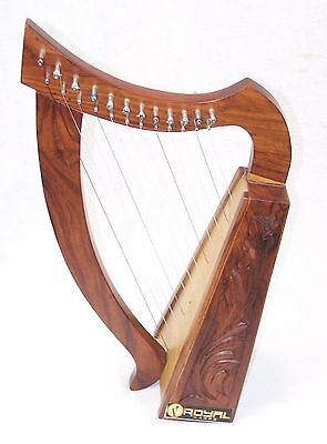 """24"""" tall harp for kids 12 Strings Extra Strings Tuner Carrying Case New"""