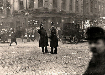 Photo Policeman - Taken From 1914 - Edwardian Police Officers On Traffic Duty