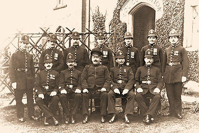 Photo Taken From 1910 Image Of Shambrook Police Officers