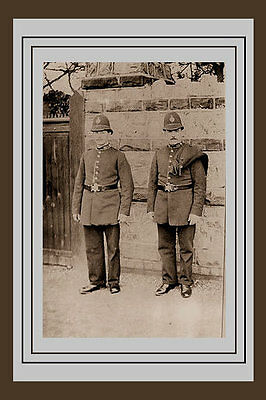 Old Photo Taken From A Victorian Image Of Two Police Constables From