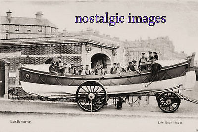 Photo  O F Eastbourne Lifeboat 1904 - Taken A 1904 Image