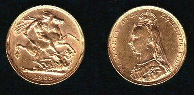 No Random Date An Authentic  1889 Melbourne Victoria Jubilee Head Gold Sovereign