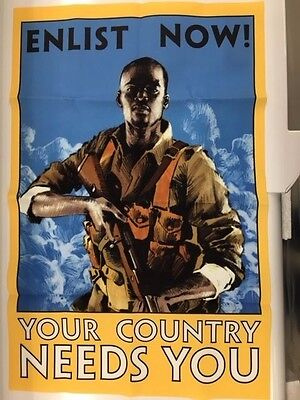 Battlefield 1 Cloth Propoganda Poster From Collector's Edition new