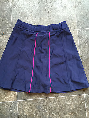 sports skirt girls with built in pants size 22 age 12 years blue pink stripe new