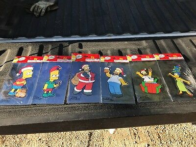The Simpsons Bart Homer Santa Christmas Holiday  Window Clings Decal Sticker