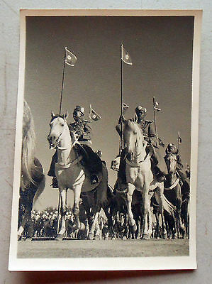 Original WW2 Postcard of Morrocan Imperial Guard Cavalry. Excelllent condition!