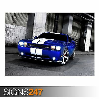 Car Poster 9102 Photo Poster Print Art A0 A1 A2 A3 A4 DODGE CHALLENGER SRT