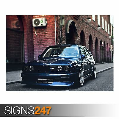 Photo Picture Poster Print Art A0 A1 A2 A3 A4 AA848 CAR POSTER BMW M3 FRONT