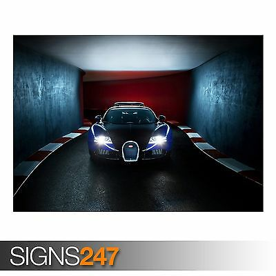 CAR POSTER AC557 Photo Picture Poster Print Art A0 to A4 BUGATTI CHIRON 2016