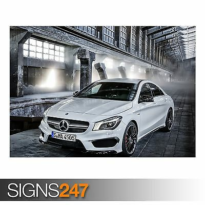 Mercedes benz cla45 amg class w117 carbon fiber gt boot for Mercedes benz poster