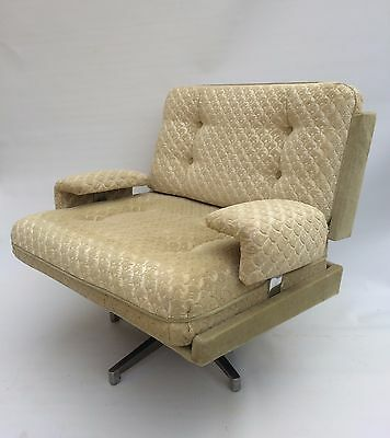 Vintage Retro Howard Keith 1960's Kohinoor Swivel Armchair