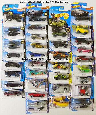 Hot Wheels Hard To Find Comic Book Superheros And TV Movie Film Cars