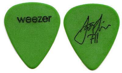 WEEZER Guitar Pick : 2002 Tour - Scott Shriner signature green