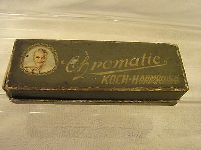 "Koch Harmonica Chromatic In The Box Germany Key Of ""c"" Vintage Used But Nice Sha"