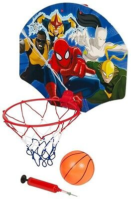 Marvel SPIDERMAN Basketball Set Korb Ball Pumpe Ultimate Spiderman Ballspiel
