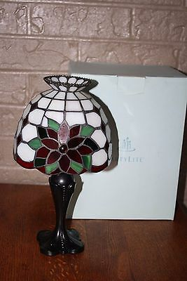PARTYLITE~P8252 POINSETTIA TEALIGHT LAMP~Christmas Candle Holder