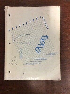 30page Laboratory Notebook Re-usable Carbon Paper Preowned