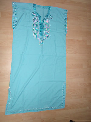 Moroccan     Kaftan    Baby Blue   BEACH     House - Night Out Summer Dress