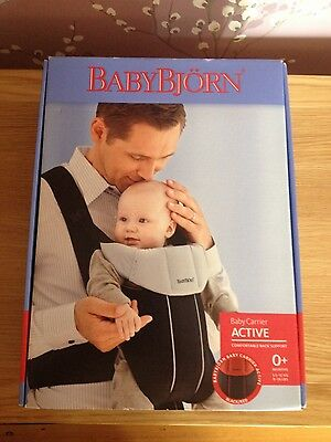 Baby Bjorn Baby carrier active -black & red brand new in box