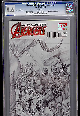 All-New All-Different Avengers #1 Alex Ross Sketch Variant 1:150  CGC 9.6 NM+