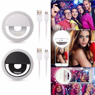 Portable Selfie 36 LED Ring Flash Fill Light Clip Camera For iPhone Samsung HTC