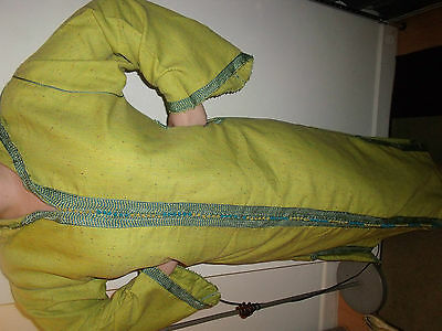 Moroccan Djellaba Kaftan Hood LiMe Green  African Dress EID / Wedding / OCCASION