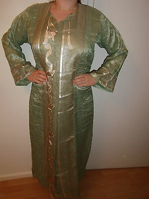 Moroccan    Gold-Leaf    Kaftan   1 Piece  Garment  EID / Wedding / OCCASION • EUR 25,16