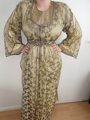 Moroccan Chocolate Cream   3 Piece    Onc Size EID / Wedding / OCCASION DRESS