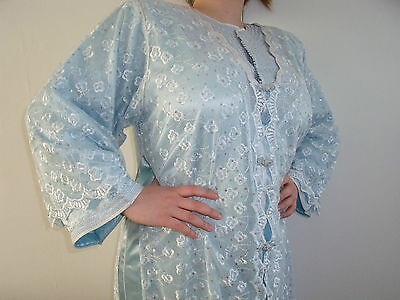 Moroccan Takchita  Light Ice BLUE,, 2 Piece under Garment Kaftan  North African