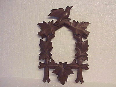 New Old Stock Brown Cuckoo Clock Front & Top Trim parts repair L
