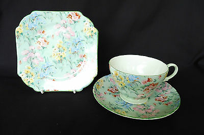 "Vintage Shelley Fine Bone China ""Melody"" Trio : Cup, Saucer, Plate : Perfect"