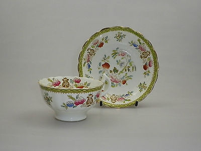 Early Victorian Tea Cup and Saucer Polychrome Derby