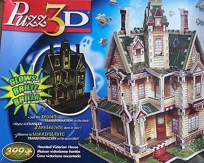 Wrebbit Puzz 3D Haunted Victorian House 399 Pc. 3D Puzzle Glows in the Dark