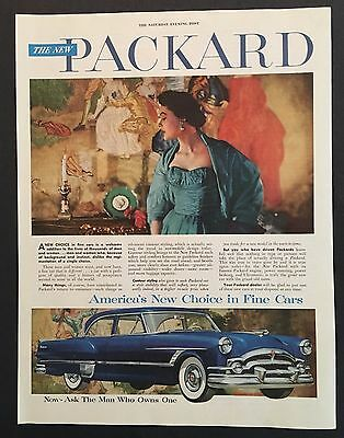 1953 Packard Advertisement Original Color Car Vinage AD America New Choice