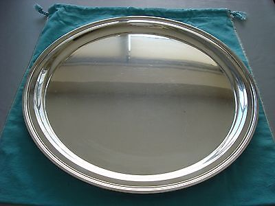 """TIFFANY sterling silver ~ LARGE 15 """" TRAY PLATTER SALVER ~ MODERN MID CENTURY"""