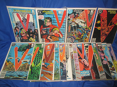 V THE VISITORS  DC Comics Lot Complete Series #1-18 TV Show Set VF