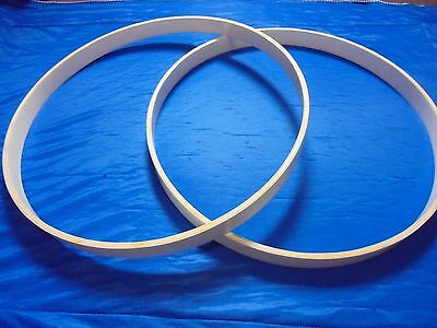 "A pair of Wooden Hoops for Bass Drum(Available sizes ready to ship 22""20""18""16"")"