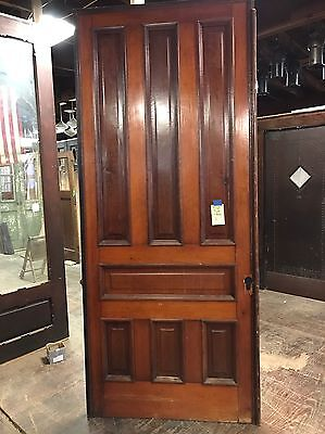 "Antique Pine 7 Panel Pocket Door 42""x103"" Old Doors House Salvage 2 Available"
