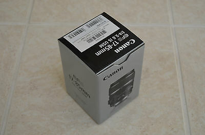 Brand New US Retail Canon EF-S 17-85mm f/4.0-5.6 IS USM Lens For DSLR MSRP $599