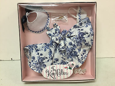 Tiny Kitty 'English Breakfast' outfit blue floral dress set tea time NRFB 10in.