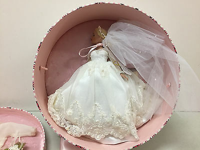 """Tonner 10"""" Tiny Kitty Bridal Bliss Doll Hatbox & Accessories complete excellent"""