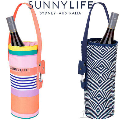 NEW SunnyLife Bottle Tote Beverage Wine Cooler Outdoor Picnic Carry Bag Case