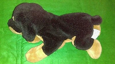 "14"" RUSS Berrie The Rottweiler Plush Puppet Puppy Dog Plush BARKS!! 2013"