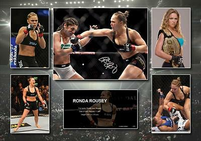Ronda Rousey Signed Photo Poster Memorabilia Limited Edition of 250 - UNFRAMED