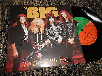 """MR.BIG To be with You/Green tinted sixties mind 7"""" 1991 Atlantic GERMANY"""