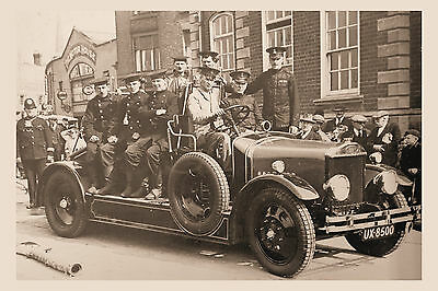 PHOTO TAKEN FROM A 1920's IMAGE OF THE SHREWSBURT FIRE BRIGADE