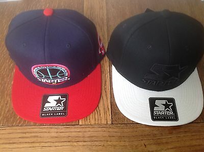 2x Starter SnapBack Caps One Size Adjustable New With Tags